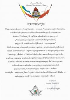 referencje Straży Pożarnej Świętokrzyskie
