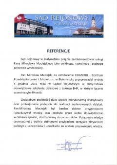 Sąd Rejonowy Białystok