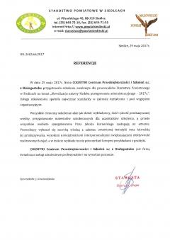 Starostwo Powiatowe w Siedlcach (05.2017 r.)