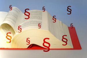 Buch Recht Paragraphen Zeichen Illustration