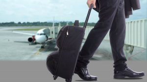 business travellers walking over the sea in the world